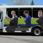 A fun ad for Traverse City State Bank on the BATA buses.