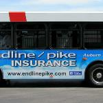 Endline Pike Insurance on a Bay Metro Bus - Bay City, MI.