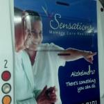 Rear bus ad for Sensations Memory Care on the EATRAN buses Charlotte, Michigan.