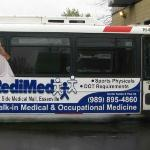 RediMed Bus Ad on the Bay Metro Buses Bay City, Michigan.